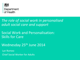 The role of social work in personalised adult social