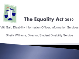 The Equality Act 2010 - University of Edinburgh