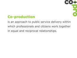 Co-production – what`s it all about?