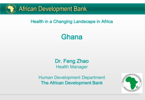 THE AFRICAN DEVELOPMENT BANK (ADB)