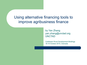 Using alternative financing tools to improve agri
