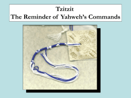 04/21/12 Remembering Yahweh`s Commands