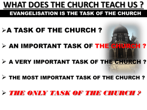 WHAT DOES THE CHURCH TEACH US ?