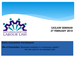 SASLAW Seminar feb 2014 final