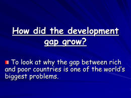 How did the development gap grow ake video clip