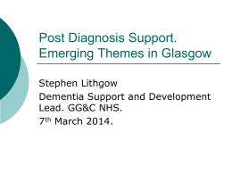 Stephen Lithgow - PDS Emerging Themes in Glasgow