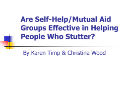 Are Self-Help/Mutual Aid Groups Effective in Helping People Who