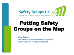 Safety Groups UK - Putting Safety Groups on the map