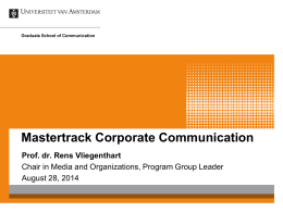 Corporate Communication introduction