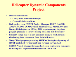 Helicopter Dynamic Components Project