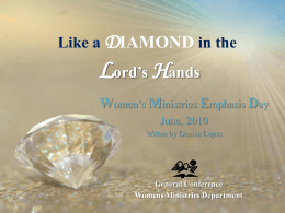 Like a Diamond in the Lord`s Hands