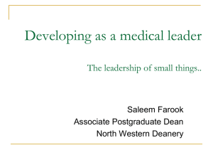The Medical Leadership Curriculum