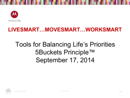 MOVESMART…WORKSMART series