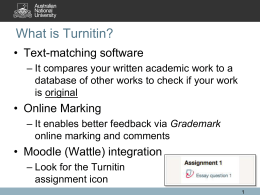 Introducing Students to Turnitin