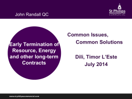 Early Termination of Resource, Energy and other long