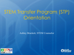 STEM Transfer Orientation