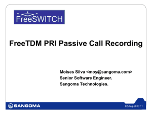 FreeSWITCH ISDN