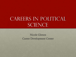 Careers in Political Science