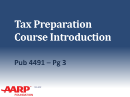 01-Course-Introduction-TY13-V11 - AARP Tax-Aide