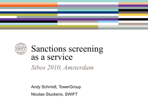 Sanction screening