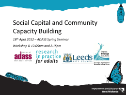 Social Capital and Community Capacity Building