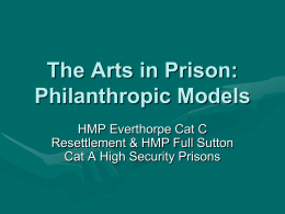 Philanthropic Models - National Alliance for Arts in Criminal Justice