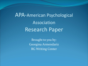 APA (6th edition) - El Paso Community College