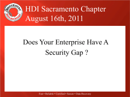 Does Your Enterprise Have A Security Gap?