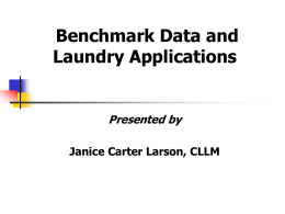 PROCESS ORIENTATION - Association for Linen Management