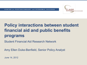 Policy interactions between student financial aid and public benefits