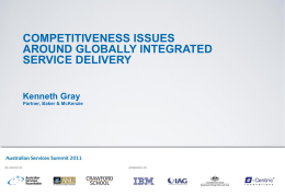 Competitiveness issues around globally integrated services delivery