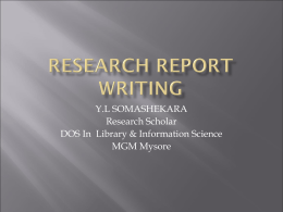 research eport writing