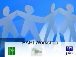 (PAHI) Workshop , Senegal, June 2011