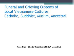 Funeral and Grieving Customs of Local Vietnamese Cultures