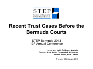 Recent Trust Cases Before the Bermuda Courts