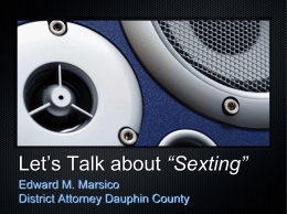 "Let`s Talk about ""Sexting"""