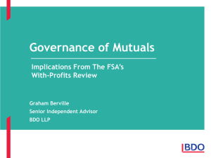 fsa with profits review - Association of Financial Mutuals