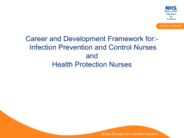 Career and Development Framework for Infection Prevention and
