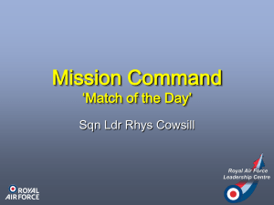 Mission Command - Royal Air Force