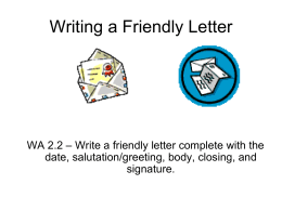 Friendly Letter2 - Pacoima Charter School