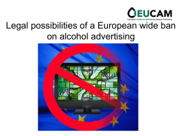 Talking about an alcohol marketing ban….why not?