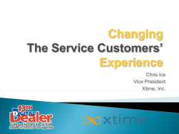 Experience - Dealer Communications