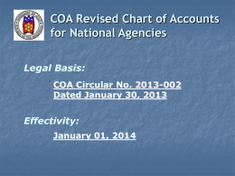 4GACPA 2013.Chart of Accounts.UACS