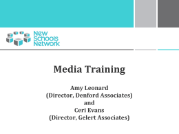 Media Training Amy Leonard (Director, Denford Associates) and
