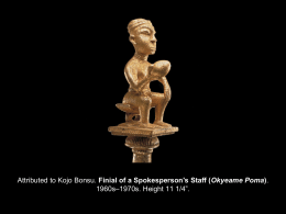 Attributed to Kojo Bonsu. Finial of a Spokesperson`s Staff (Okyeame
