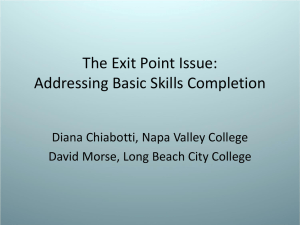 The Exit Point Issue: Addressing Basic Skills Completion