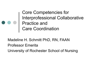 Core Competencies for Interprofessional Collaborative Practice and