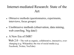 Ethics issues in internet-mediated research