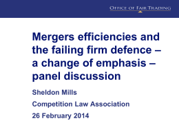 Dynamic efficiencies? - Competition Law Association