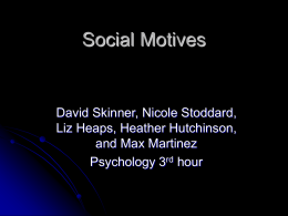 Social Motives - Grand Junction High School